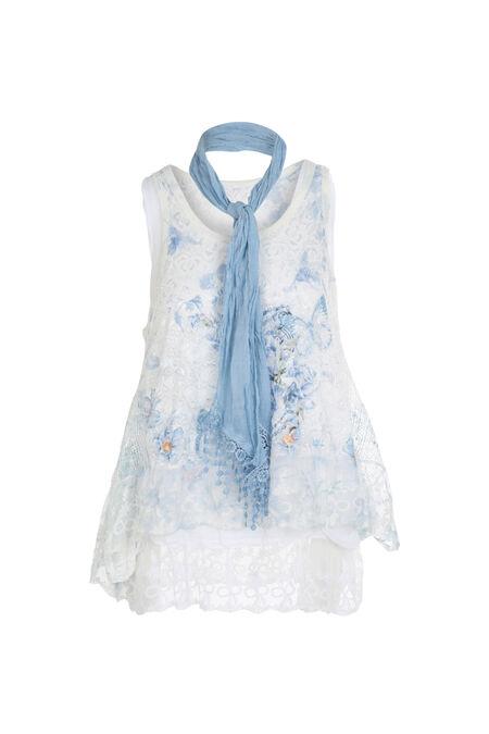 Mouwloze trui 2-in-1 - Blauw
