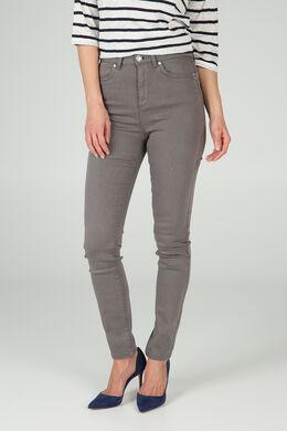 Pantalon slim en coton, Kaki