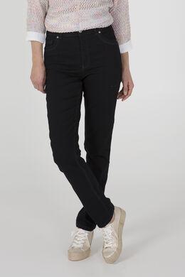 Jeans push up taille haute avec broderie, Dark denim
