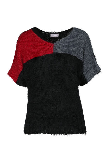 Pull maille poilue - Rouge