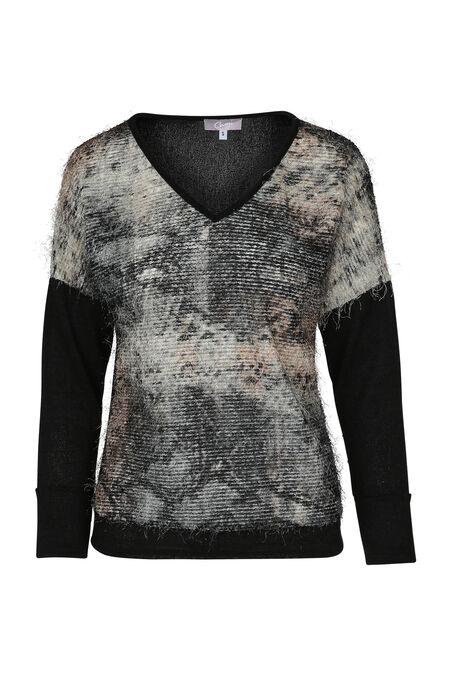 Pluizige trui - Zwart