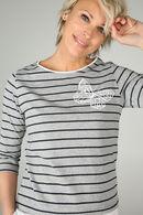T-shirt marinière, Gris Chine