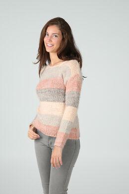 Knusse trui in tricot, Roze