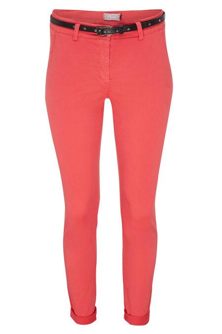 Pantalon chino - Corail
