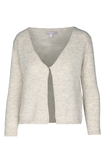 Cardigan in lurextricot - Beige