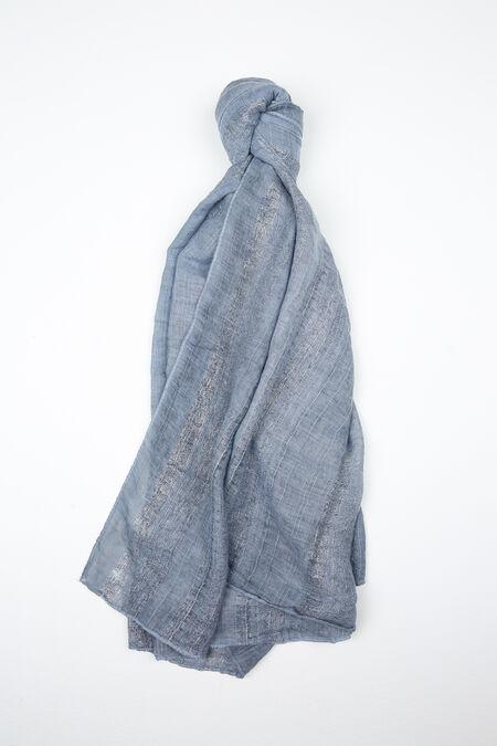 Foulard versierd met lurexgaren - Blauw