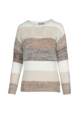 Pull cocoon en maille, Chocolat