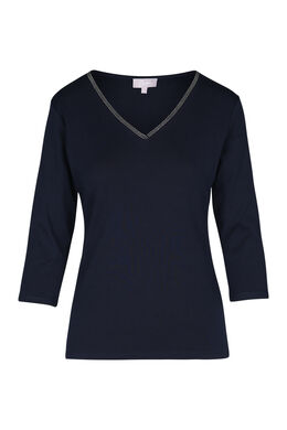 Effen T-shirt, Marineblauw