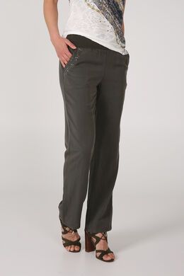 Broek in tencel, Kaki