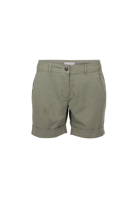 Katoenen short - Kaki