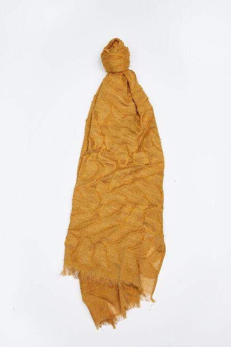 Effen foulard in katoen - Mosterdgeel