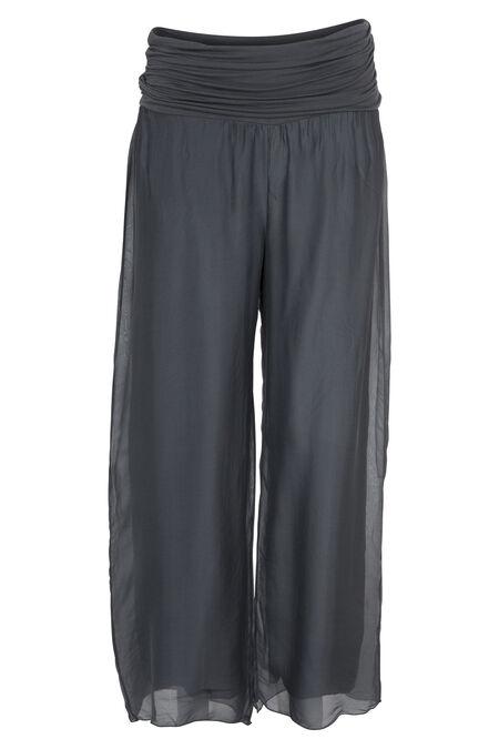 Pantalon en voile - Gris-moyen