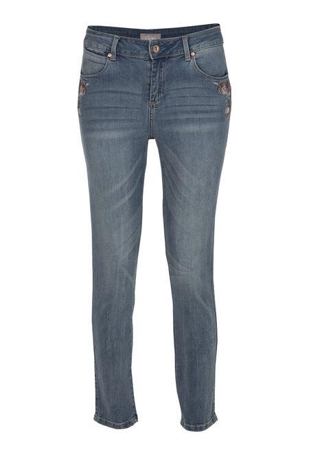 Jeans broderie - Denim