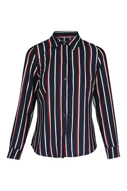 Gestreept hemd, Marineblauw