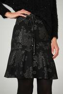 Uitlopende rok in tricot, Zwart