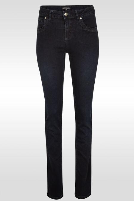 Jeans push up droit extralong - Dark denim