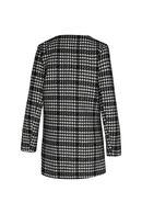 Veste imprimé à teneur en laine, Noir/Ecru