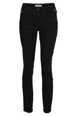 Katoenen slim broek, Zwart