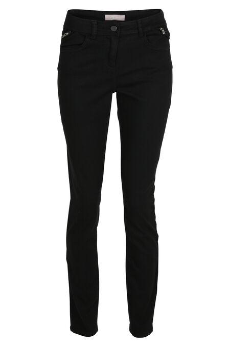 Pantalon slim en coton - Noir