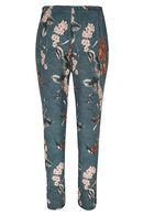 Soepele broek met Japanse print, Kaki