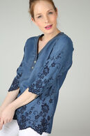 Tuniek in tencel met denimlook, Denim