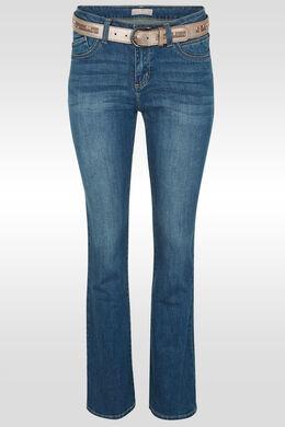 Bootcut jeans met riem, Denim