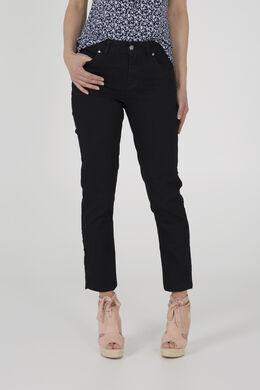Basic slim jeans, Donker denim