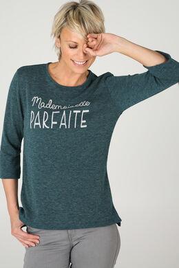 Sweater 'Mademoiselle parfaite', Emerald groen