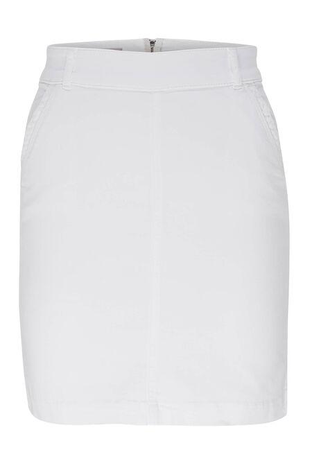 Korte rok in katoen - Wit