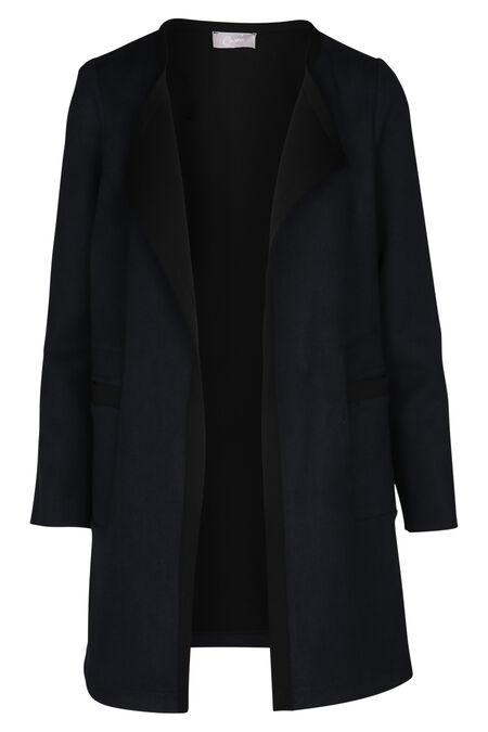 Manteau graphique bicolore - Marine