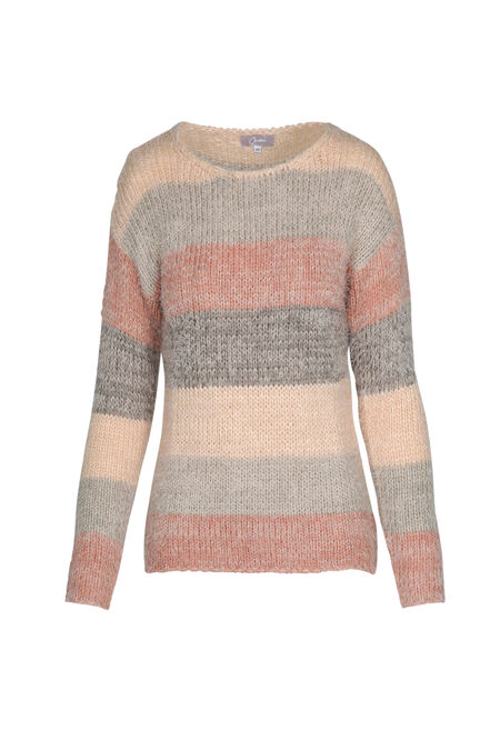 Knusse trui in tricot - Roze