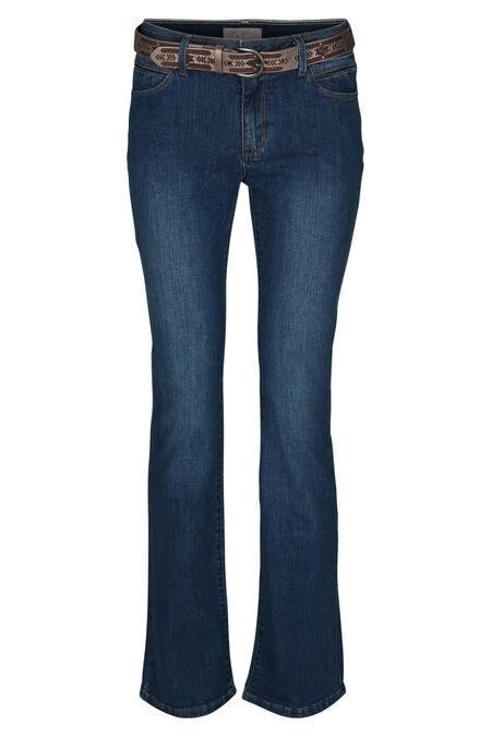 Brede jeans in biokatoen - Denim