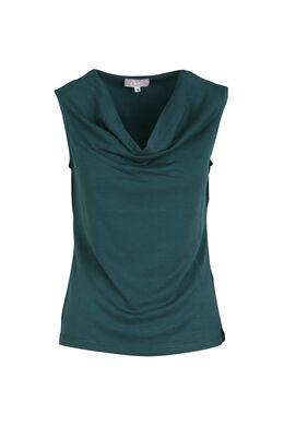 Top in effen tricot, Emerald groen
