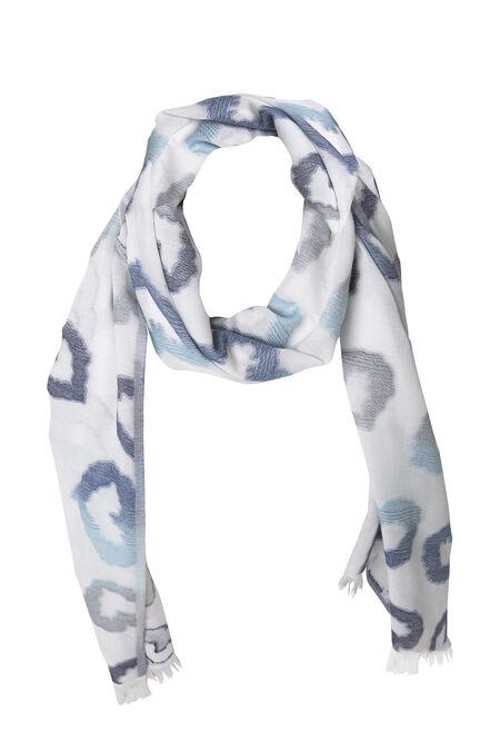 Foulard met hartjesprint - Blauw