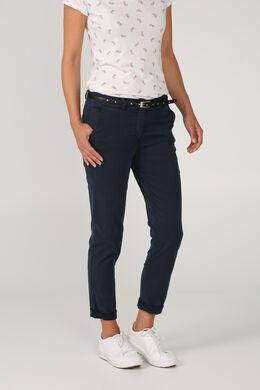 Pantalon chino coupe droite, Marine