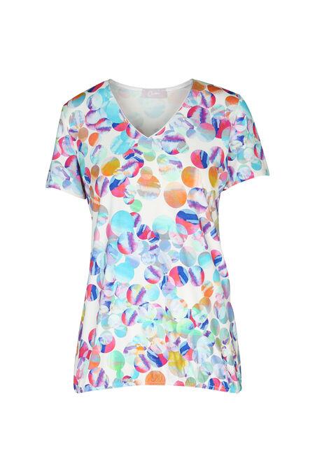 T-shirt met veelkleurige cirkels - Multicolor