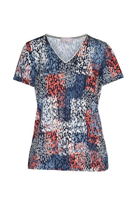 T-shirt imprimé - Corail