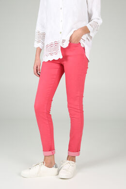 Pantalon slim 7/8, Coquelicot