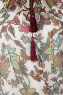 Zijden bloes met print, Bordeaux