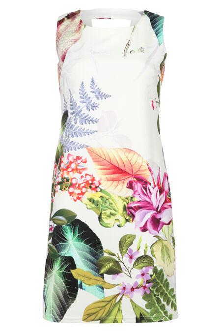 Jurk met exotische tuinprint - Multicolor