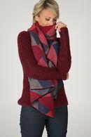Écharpe imprimé géométrique, Rouge