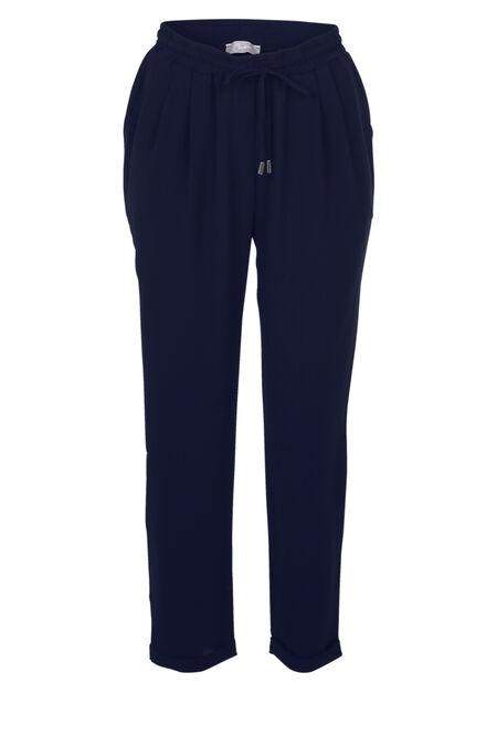 Soepel vallende, geklede broek - Marineblauw