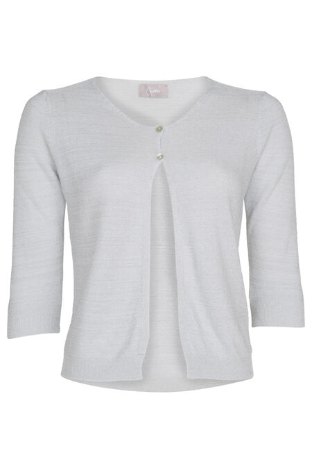 Cardigan en maille lurex - Blanc