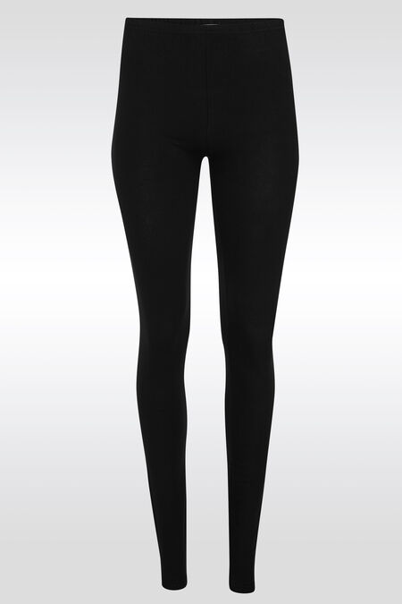 Lange, basic legging - Zwart