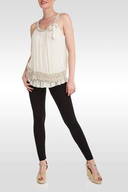 Lange, basic legging, Zwart