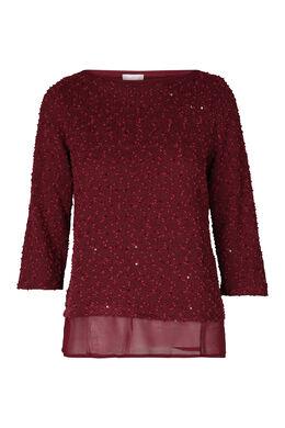 Sweater met lusjes en lovertjes, Pruim