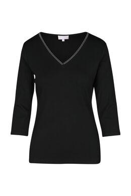Effen T-shirt, Zwart