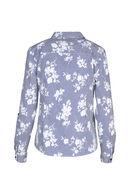 Chemise en coton imprimée, Bleu