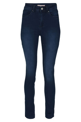 Jeans met hoge taille, Denim