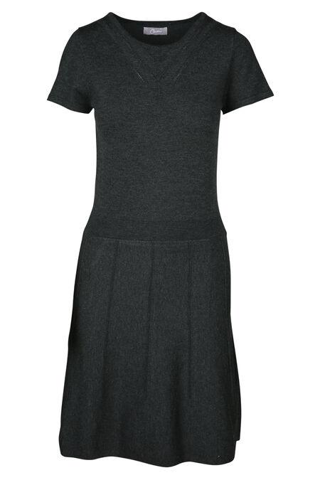 Knielange jurk - Grijs
